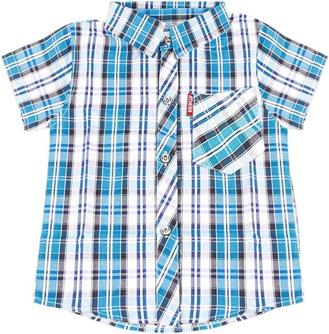 ALLAIBB Niño niños Camisa con Cuello Abotonado y Camiseta de Manga Corta de Verano, 2-9 años: Amazon.es: Ropa y accesorios