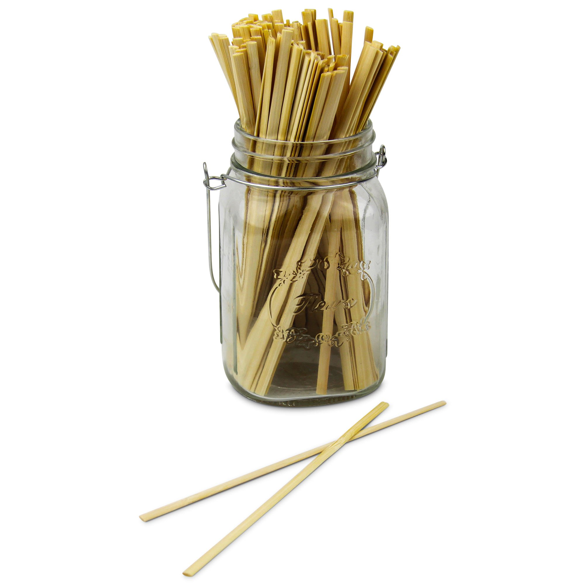 7'' Bamboo Wood Coffee Stir Sticks, Disposable Wooden Tea Drink Cocktail Mix Stirrers, Compostable Eco Friendly For Hot Cold Beverages - 1000 Pack by Fit Meal Prep (Image #3)