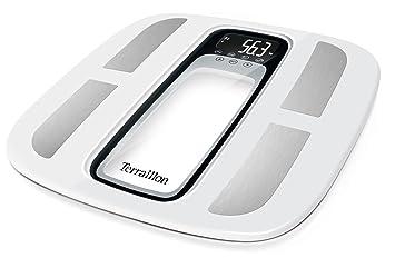 Terraillon 13348 Pèse personne Électronique blanc/noir 32,5 x 32,5 x