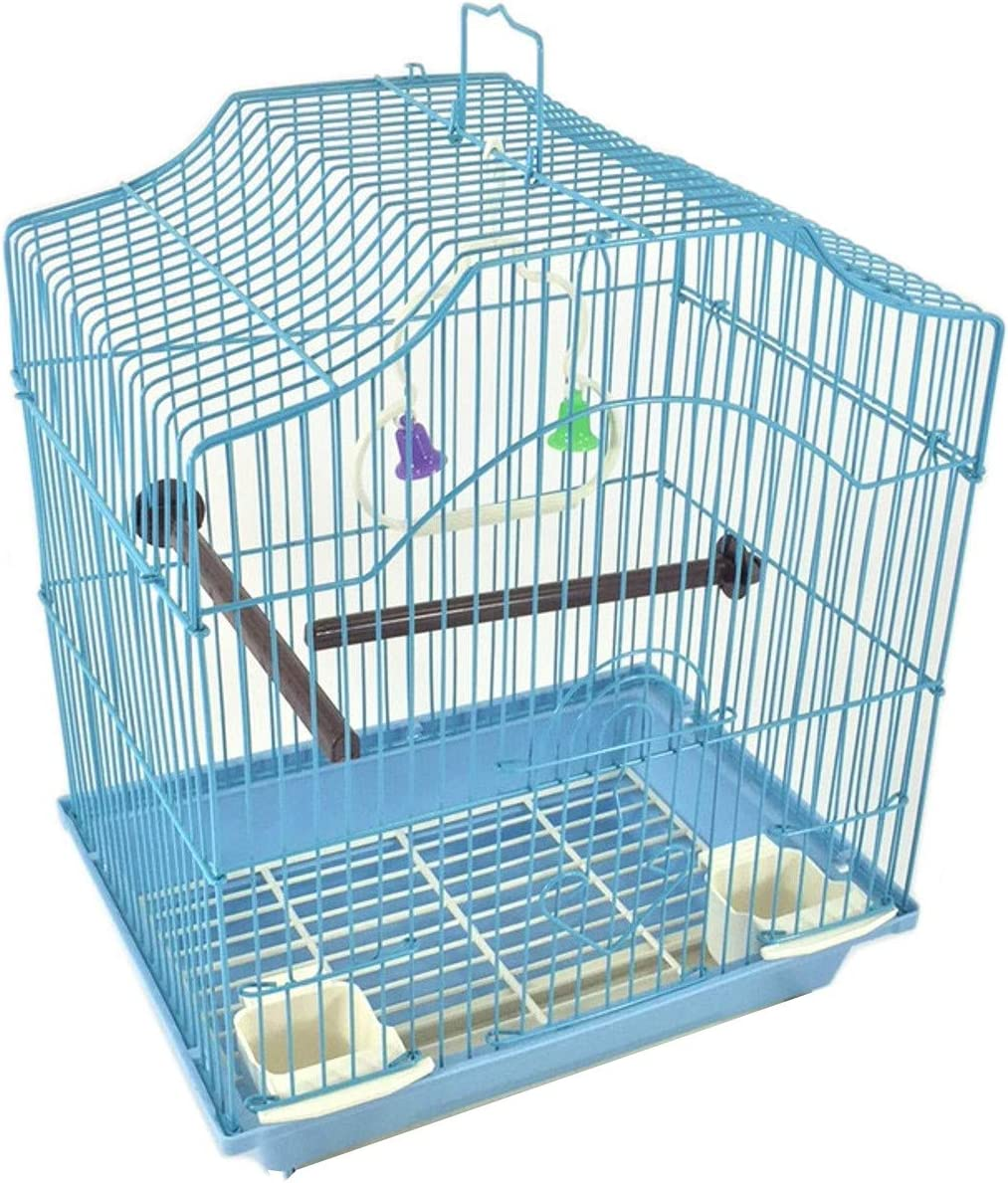 hardwood and stainless bar parakeetfinch cage with round front