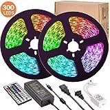 LED Strip Lights, UMICKOO 32.8 ft 10M(5Mx2) LED Lights 5050 LED Tape Lights, Flexible Color Changing LED Strip Lights…