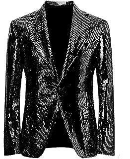 Amazon.com: chamarra de lentejuelas para hombre disfraz ...