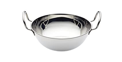 Stainless Steel KitchenCraft World of Flavours Balti Style Rice Bowl 15 cm