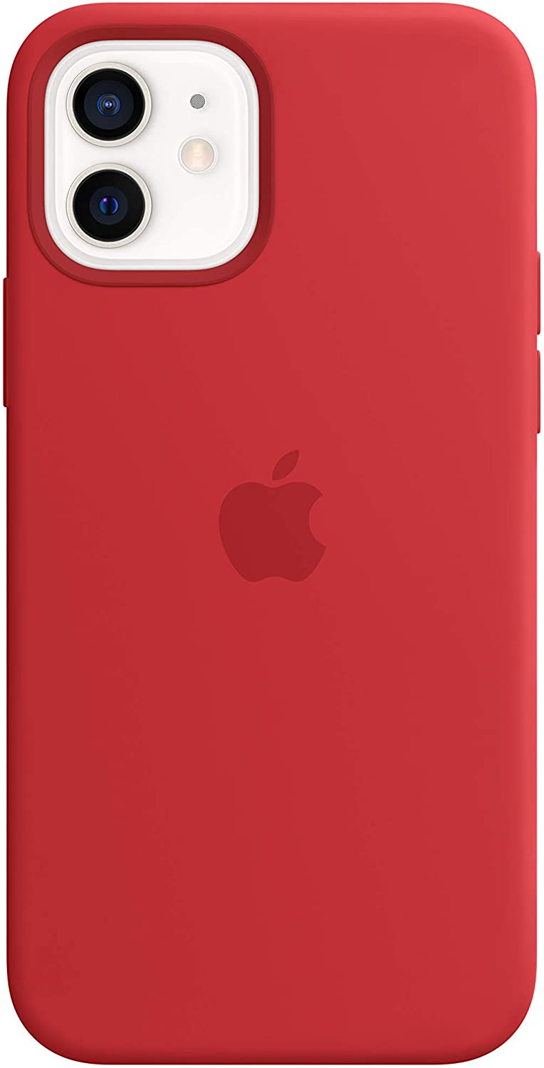 Apple Silicone Case with MagSafe (for iPhone 12, iPhone 12 Pro) - (PRODUCT)RED