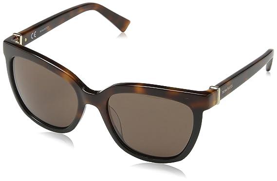 Nina Ricci Damen Sonnenbrille Snr004, Braun (Shiny Green Horn), Einheitsgröße