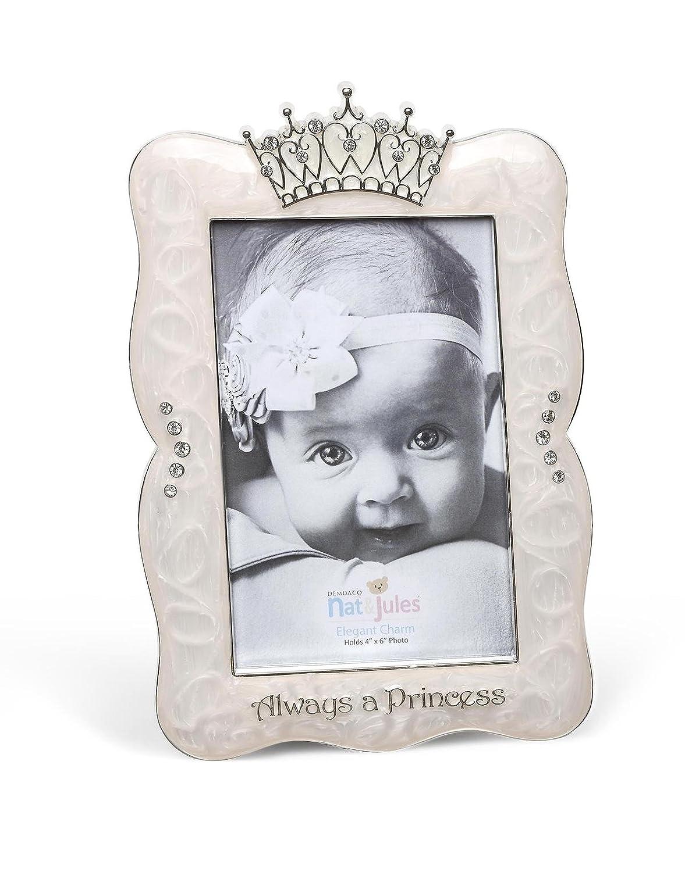 DEMDACO Crown Photo Frame, Always A Princess, 4x6 4x6 Nat and Jules 5004700151