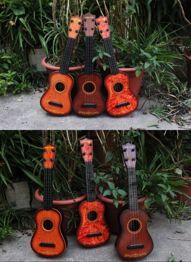 J Robin Ukulele Spielzeug 17 Zoll 4 Strings Musik Gitarre Kinder Baby Musikinstrumente p/ädagogisches Spielzeug Geschenk f/ür Kinder 3+ A