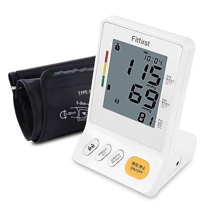 Fitfirst Tensiómetro de Brazo Eléctrico Monitor Digital de Presión Arterial LCD Pantalla 5.2 Pulgadas Altavoz Incorporado