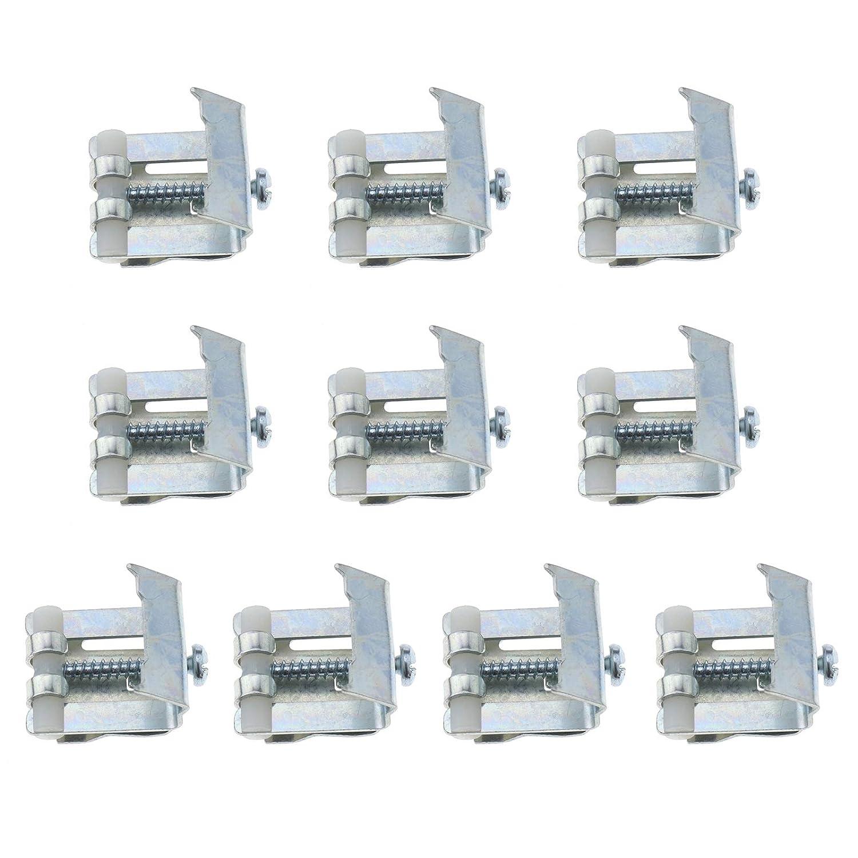 8/grapas cromado Sanitop-Wingenroth Series 22338/6/Juego de montaje para fregaderos empotrados resistente al fregaderos para montaje banda de acero inoxidable