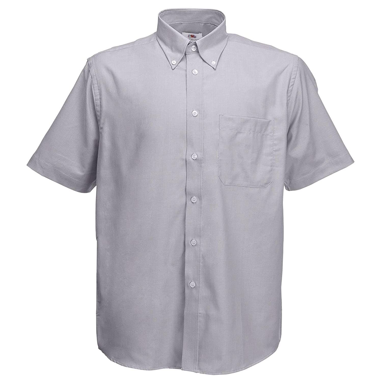 New Fruit of the Loom Mens Oxford Short Sleeve Work Shirt