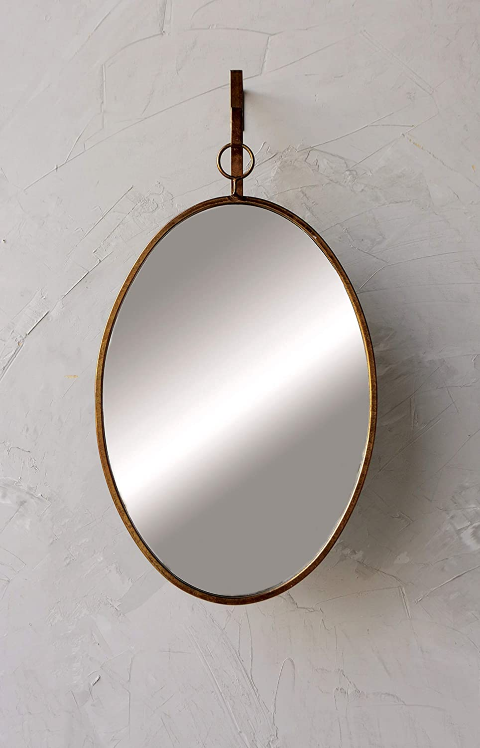 Creative Co-op Framed Oval Wall Mirror with Hanging Bracket