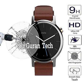 Guran® Protector de Pantalla Vidrio Cristal Templado Para Motorola Moto 360 2ª generación 46 mm SmartWatch Film