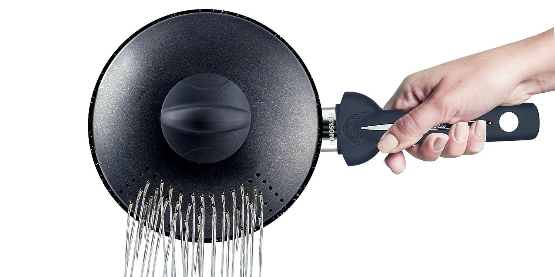 Pensofal Biostone Pastasí Baby, Cuerpo en Aluminio, Negro, 16 cm