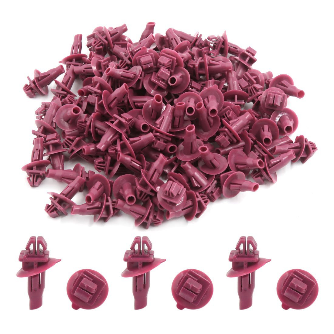 Amazon.com: eDealMax 100pcs 8 x 11 mm Tamaño del agujero remaches plásticos rojos Recorte de tornillos auto de choque Empuje Clips Para Toyota: Automotive