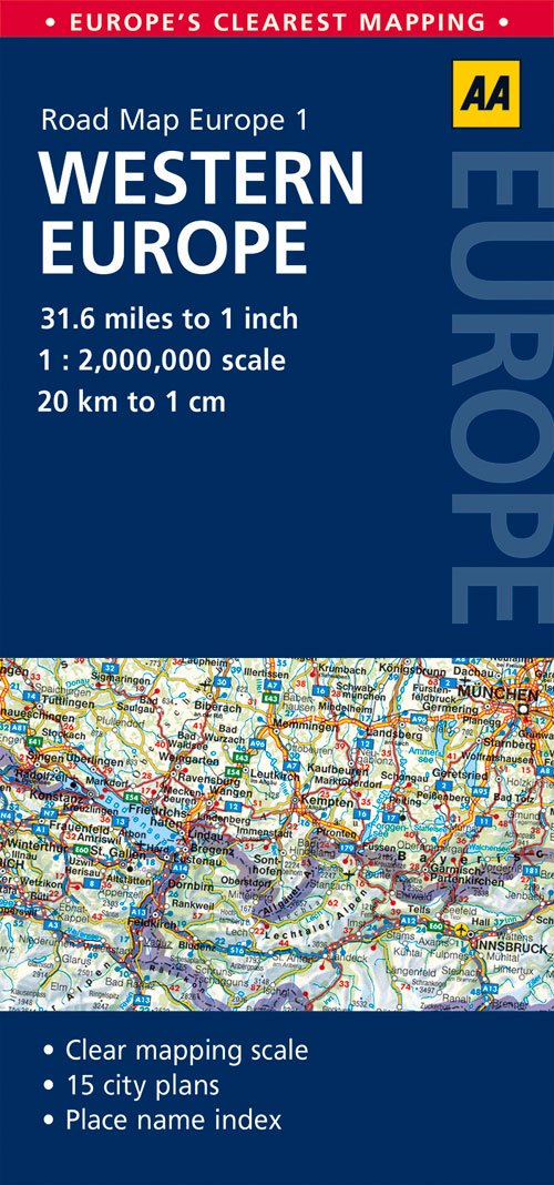 aa road map western europe Road Map Western Europe (AA Road Map Europe 1): Amazon.co.uk: AA