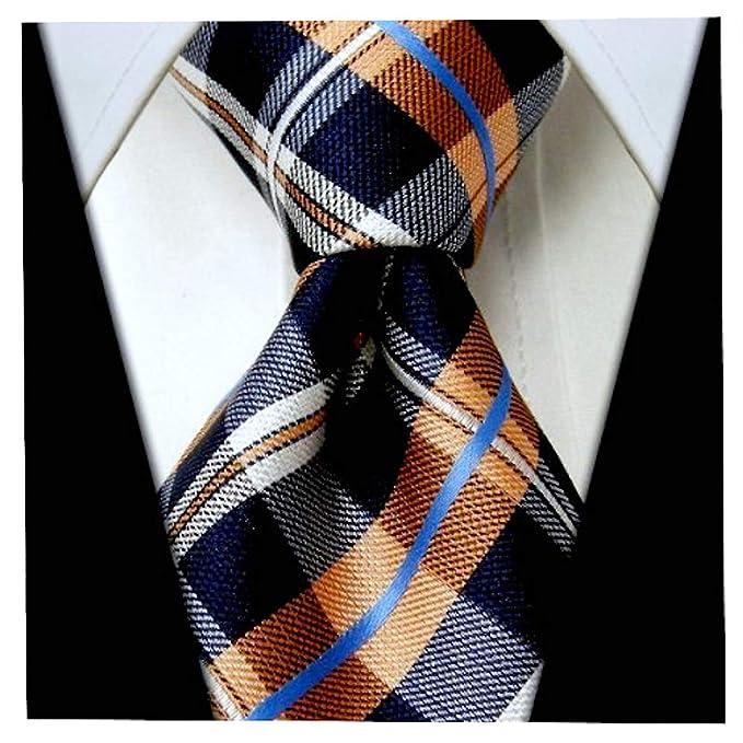 58af129e3c19 Plaid Ties for Men - Woven Necktie - Mens Ties Neck Tie by Scott Allan at Amazon  Men's Clothing store: