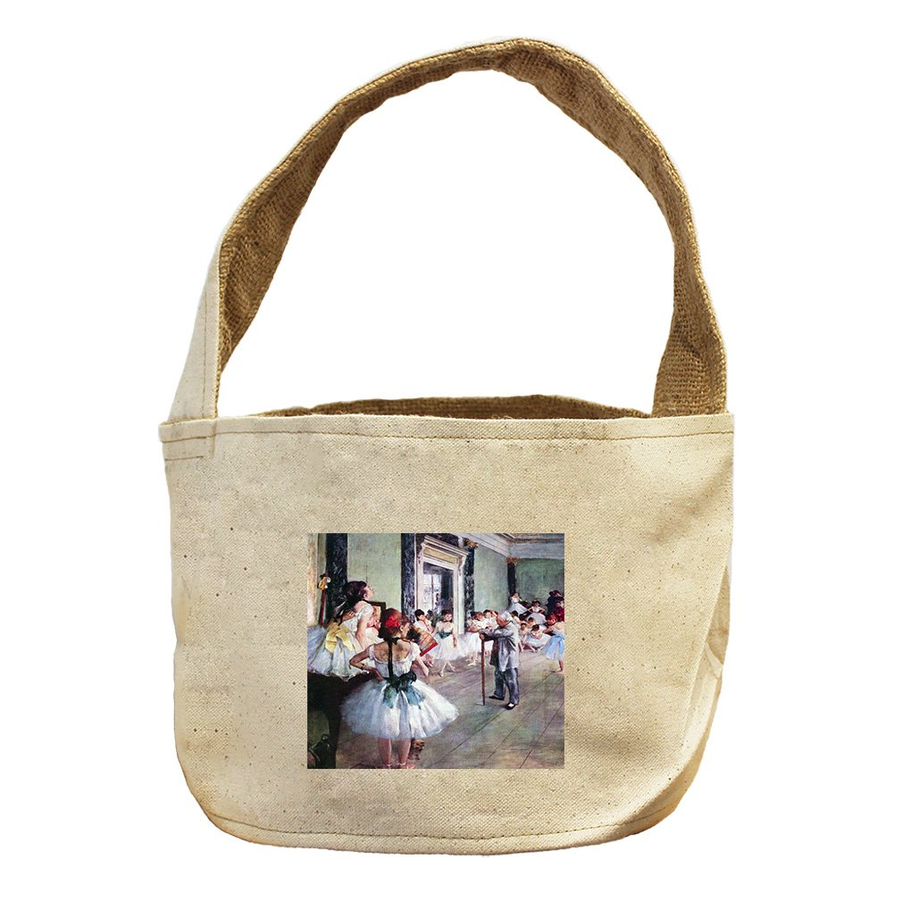 Style in Print The Dance Class (Degas) Canvas and Burlap Storage Basket Basket
