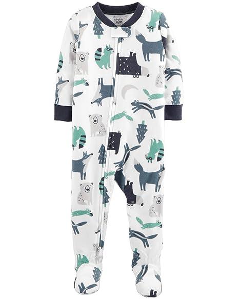 59ab4d81cf9c Amazon.com  Carter s Baby Boy s 12M-5T One Piece Fleece Pajamas ...