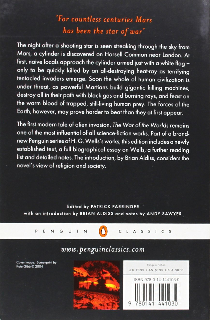 the war of the worlds penguin classics h g wells andy sawyer the war of the worlds penguin classics h g wells andy sawyer patrick parrinder brian aldiss 9780141441030 com books