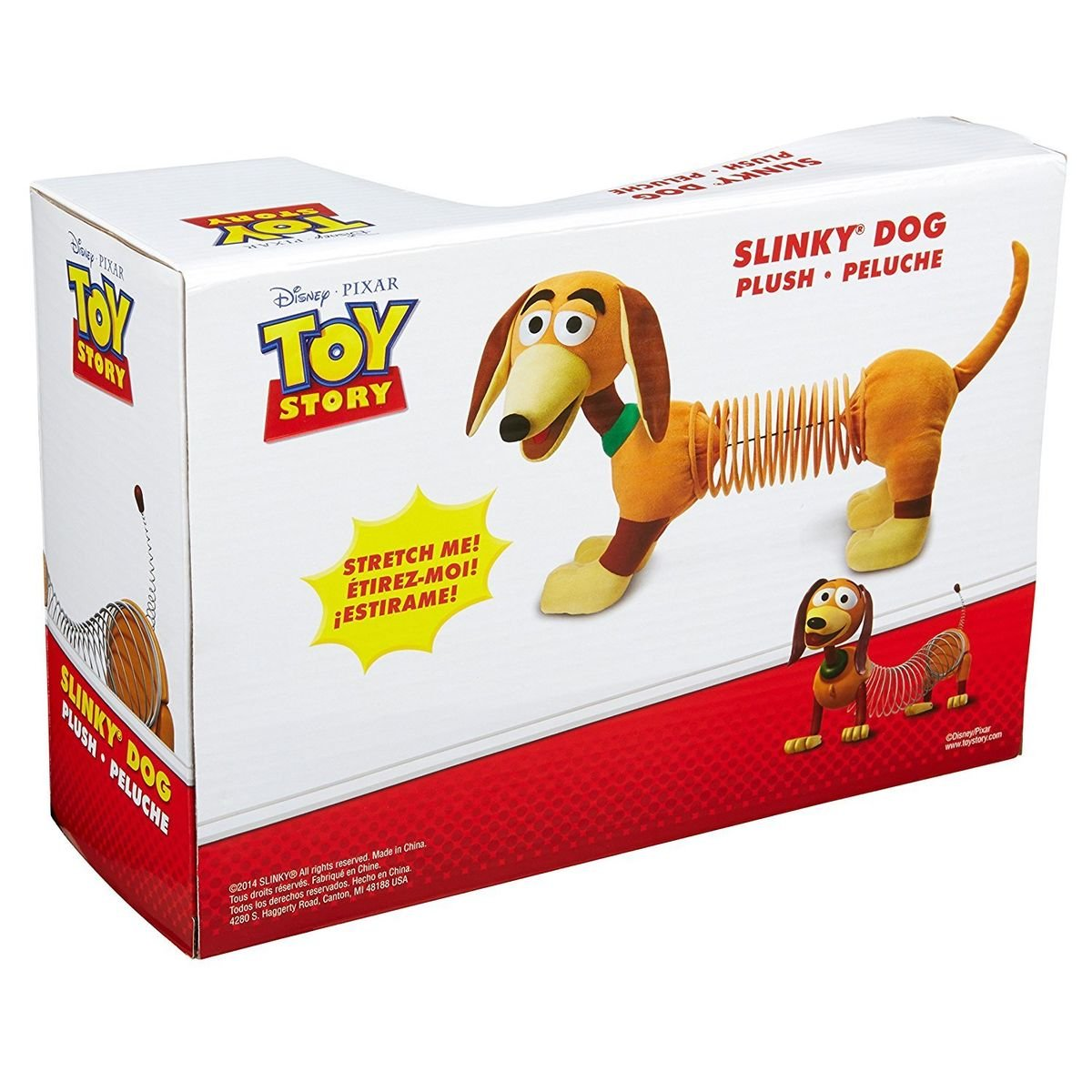 Amazon.com: Toy Story Slinky Dog Pixar Disney Movie Character Soft Kids Toddlers Plush New, Rocket Science Toys, 2018: Toys & Games