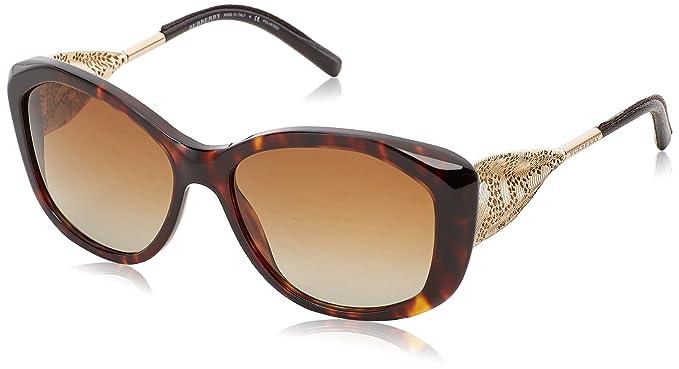 e92fa098f983 Amazon.com  Burberry Women BE4203 57 Black Grey Sunglasses 57mm ...