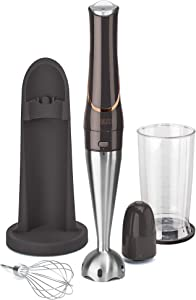 CRUX Cordless Rechargeable Immersion Hand Blender with 7.5 Inch Stainless Steel Blending Arm