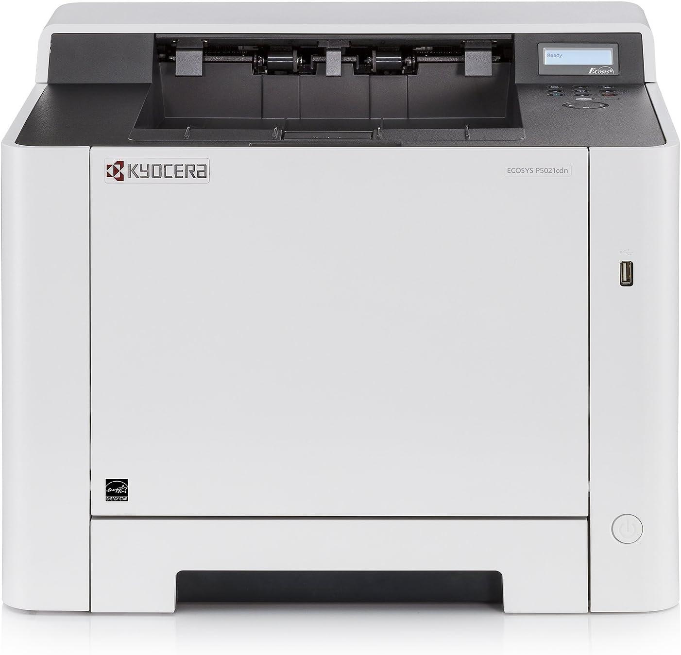 Kyocera Ecosys P5021cdn - Impresora láser a color (21 ppm, A4, doble cara, 1200 dpi, USB 2.0) - Soporte de Mobile Print para smartphone y tablet: Kyocera: Amazon.es: Informática