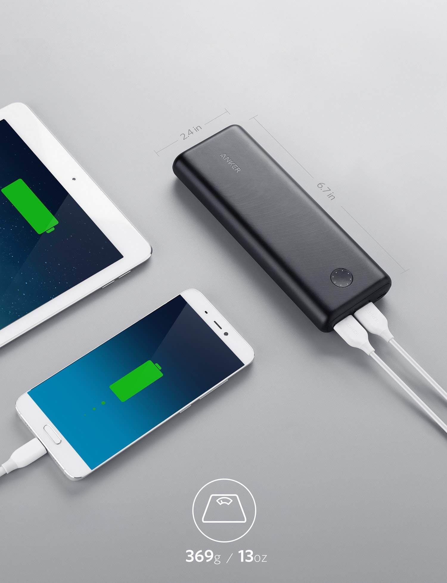 Anker PowerCore II 20000, 20100mAh Portable Charger with Dual USB Ports, PowerIQ 2.0 (up to 18W Output) Power Bank, Fast Charging for iPhone, Samsung and More (Compatible with Quick Charge Devices) by Anker (Image #7)
