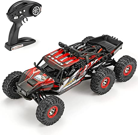 1:12 Scale Large RC Cars Truck 60+kmh High Speed for Adults and Kids,6x6 2.4GHz Radio Road Monster All Terrain Electric Remote Control Offroad Car with Two Rechargeable Batteries.