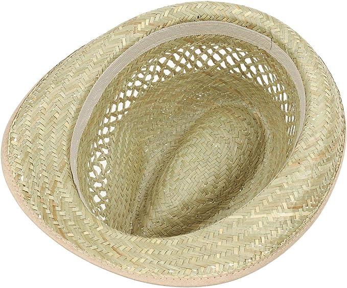 Hutshopping Cappello da Donna//da Uomo di Paglia Colore Naturale