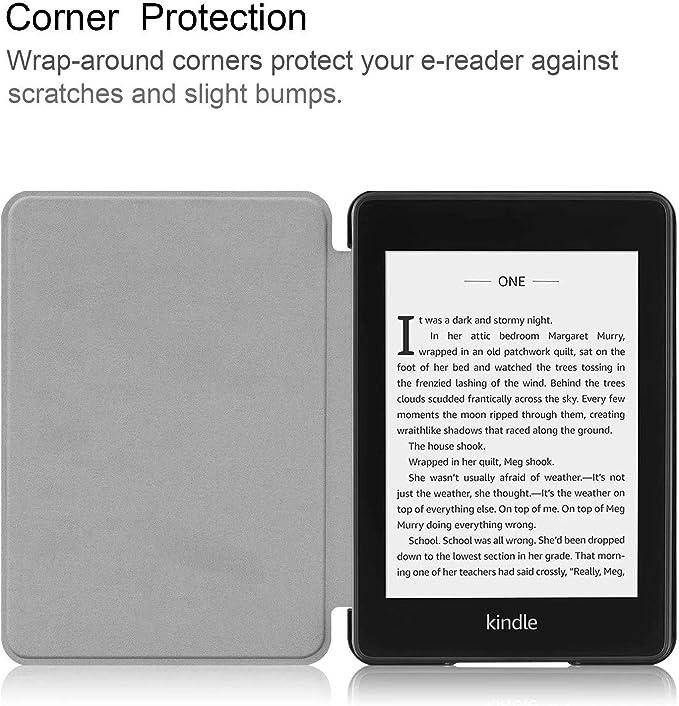 Custodia  Kindle Paperwhite 1 2 3 4 Pelle PC Flip Amare Cover 360/° Protezione Automatici Svegliati o Sonno Funzione Magnetico Ultra-Sottile Fiore Cover per  Kindle