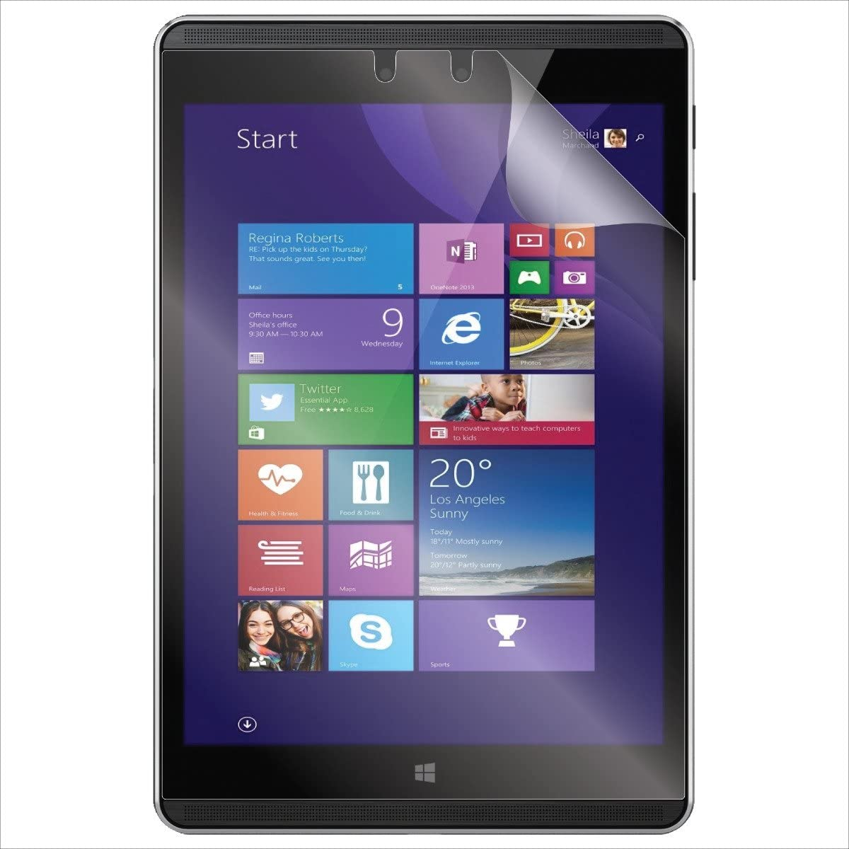 "(2-Pack) S Shields Screen Protector for HP Pro Tablet 608 G1 7.86"" (Ultra Clear)"