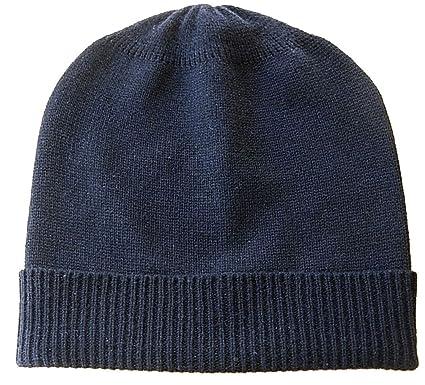 dea52ff12dcbf Amazon.com  Black Pure 100% Cashmere Beanie Hat Unisex  Clothing