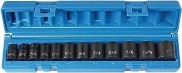 Grey Pneumatic 1213 3//8 Drive 12-Piece Standard Socket Set