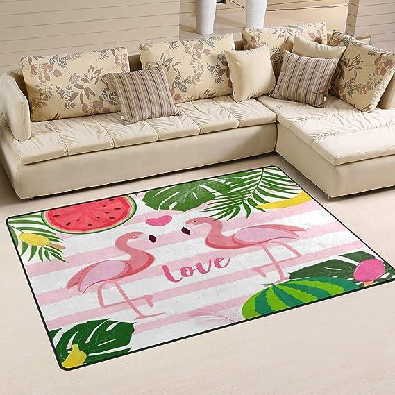 Use7 - Alfombra para salón o Dormitorio con diseño de Flamenco y ...
