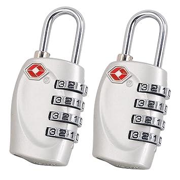 TSA Equipaje Locks, E-db Candado TSA equipaje de seguridad Combinación De 4 Dígitos