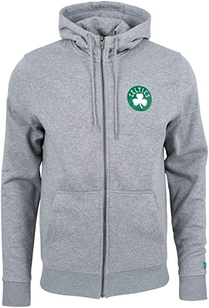 finest selection 17d9a 6cb0a New Era Boston Celtics Team Apparel Full-Zip NBA Hoodie Grey ...