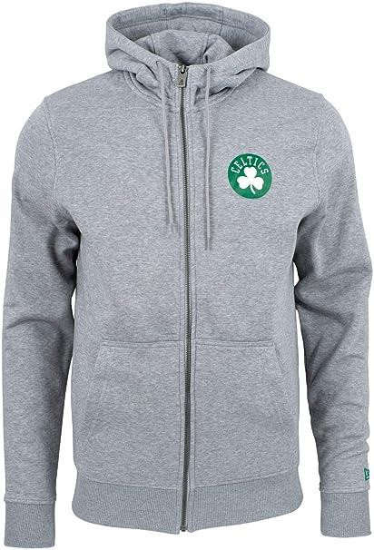 NBA Boston Celtics grau New Era Fleece Hoody