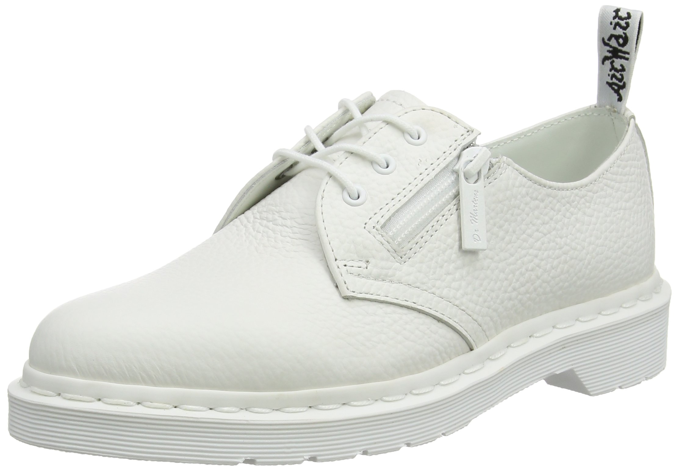 Dr. Martens Women's 1461 W/Zip Oxford, White, 8 UK/10 B US by Dr. Martens