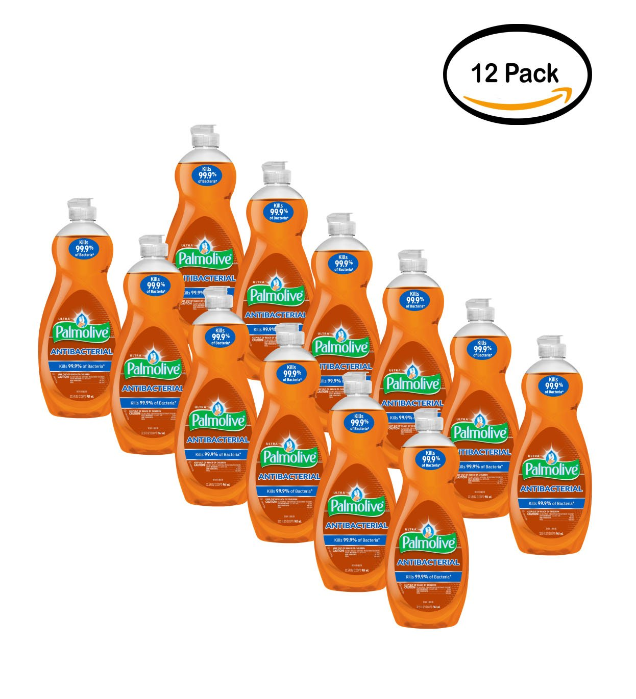 PACK OF 12 - Palmolive Ultra Anti-Bacterial Dish Soap, Orange, 32.5 Oz