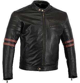Cafe Gear Chaqueta es De Amazon Negro Moto Bikers Racer L q54wdAd