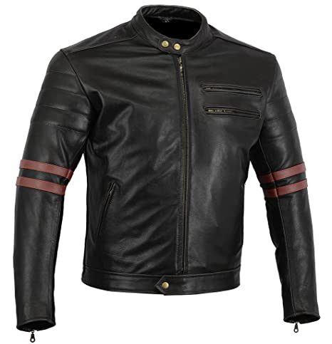 finest selection b0a8d 61649 Bikers Gear UK GIACCA in PELLE da MOTO VINTAGE CUSTOM CAFE RACER TAGLIA L  (EU 50)