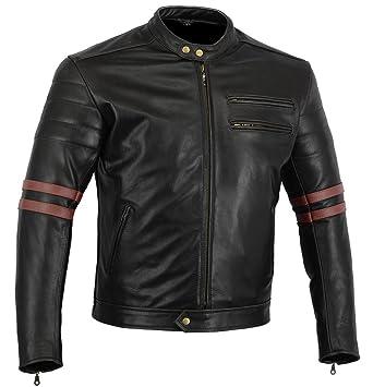 Chaqueta moto piel negra