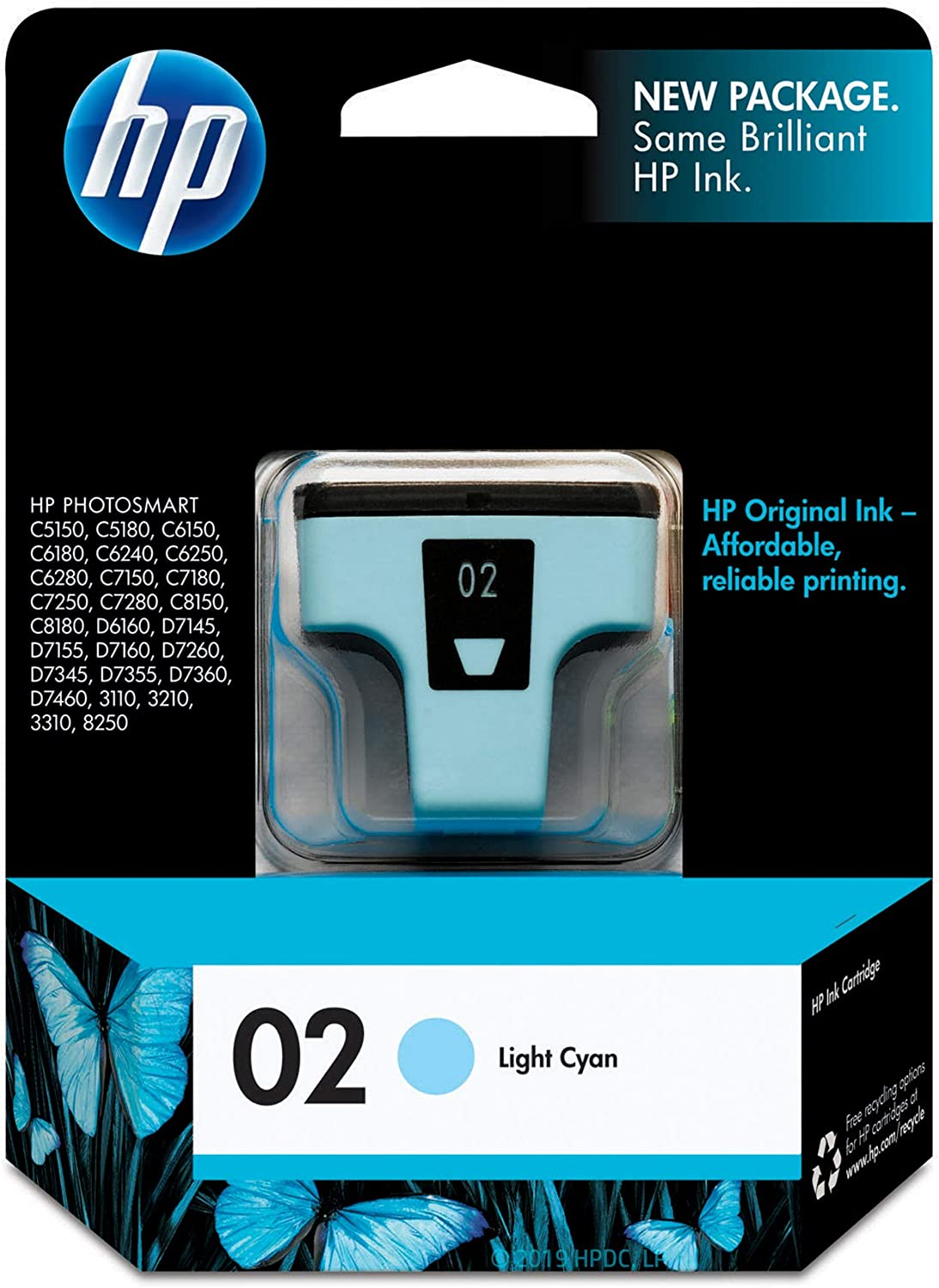 HP 02 | Ink Cartridge | Lite Cyan | C8774WN