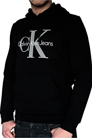 42a4f0b77ba Calvin Klein Sweat à capuche homme noir  Amazon.fr  Vêtements et ...