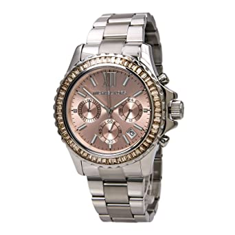 00482205d951 Amazon.com  Michael Kors Everest Chronograph Gold Dial Stainless Steel  Womens Watch MK5870  Michael Kors  Watches
