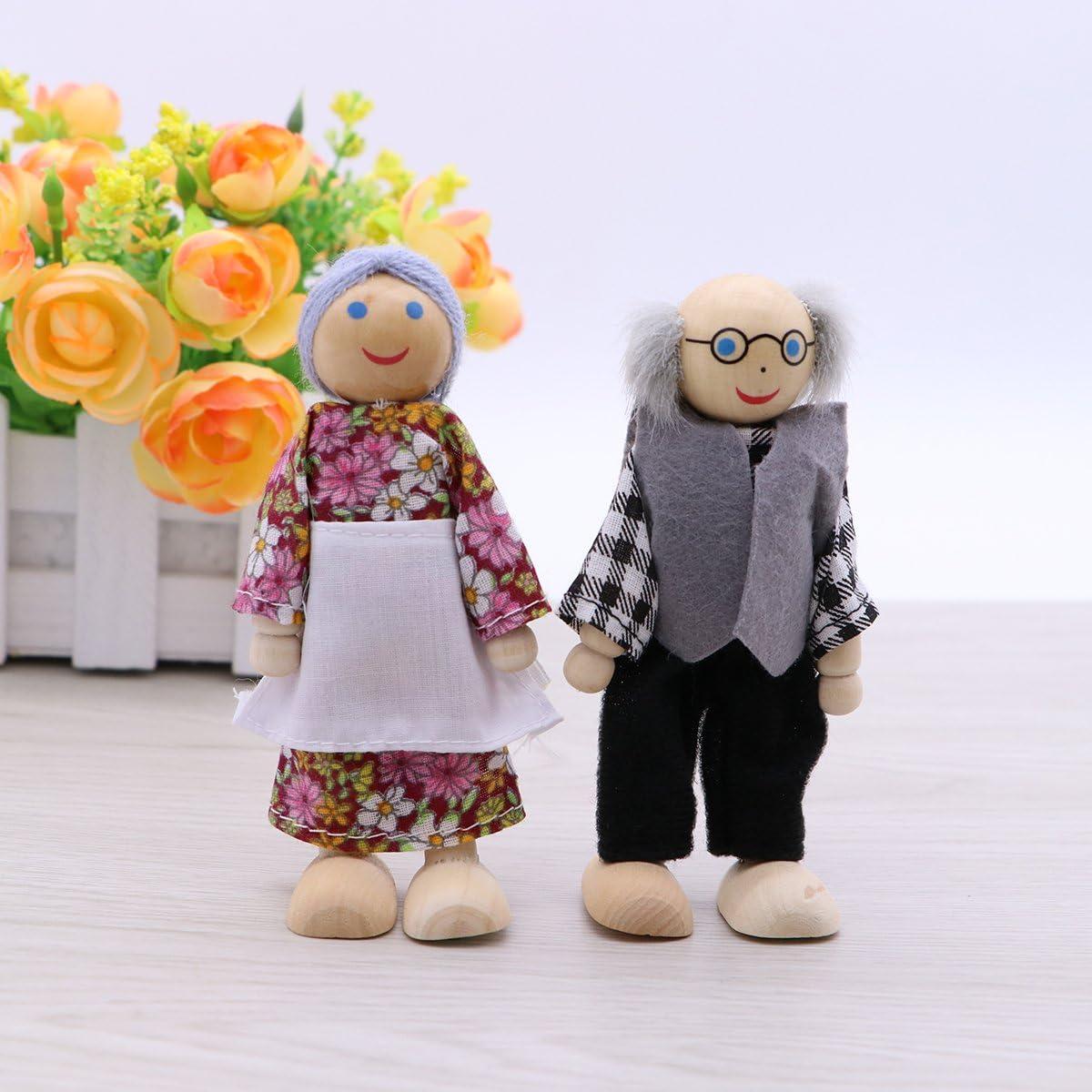 Feelava Holzfiguren Puppen,37 St/ück Unvollendete Holz Doll People mit Hut 53mm 63mm Holzfiguren Spielfiguren,DIY nat/ürliche Holzfiguren Hochzeit f/ür Geburtstag Weihnachten Dekoration Bemalen Basteln