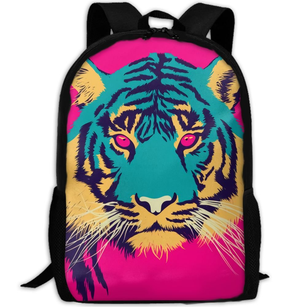 OIlXKV Tiger With Murderous Eyes Print Custom Casual School Bag Backpack Multipurpose Travel Daypack For Adult