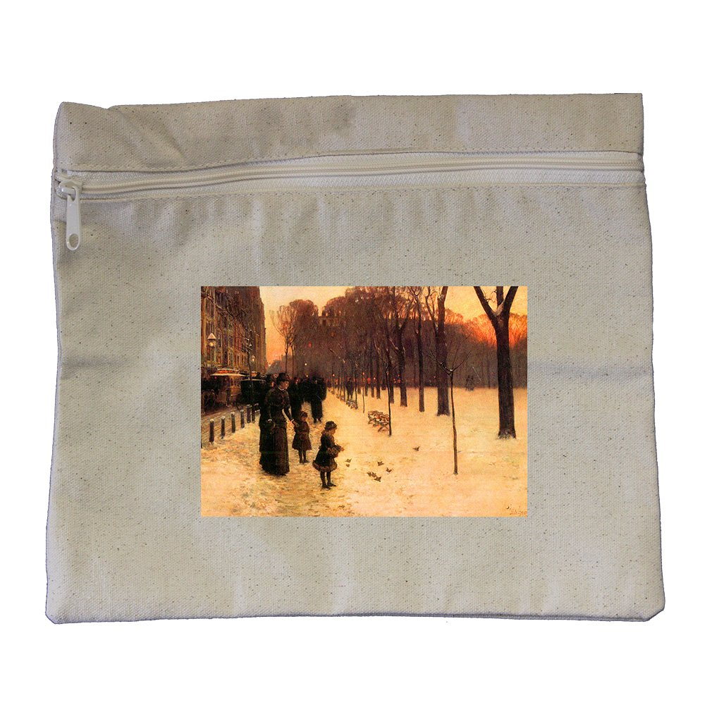 Boston In Everyday Twilight (Hassam) Canvas Zippered Pouch Makeup Bag