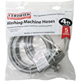 """Certified Appliance WM48SS2PK Braided Stainless Steel Washing Machine Connector (Pack of 2), 48"""""""